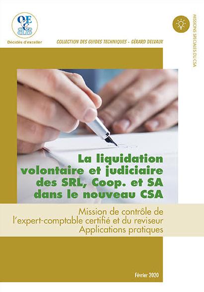La liquidation volontaire et judiciaire des SRL, COOP. et SA dans ...