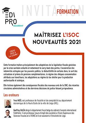 FORMATION - Maîtriser l'ISoc, nouveautés 2021