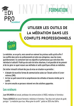 FORMATION - Utiliser les outils de la médiation dans les conflits professionnels