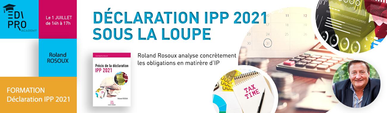 FORMATION - Déclaration IPP 2021 sous la loupe